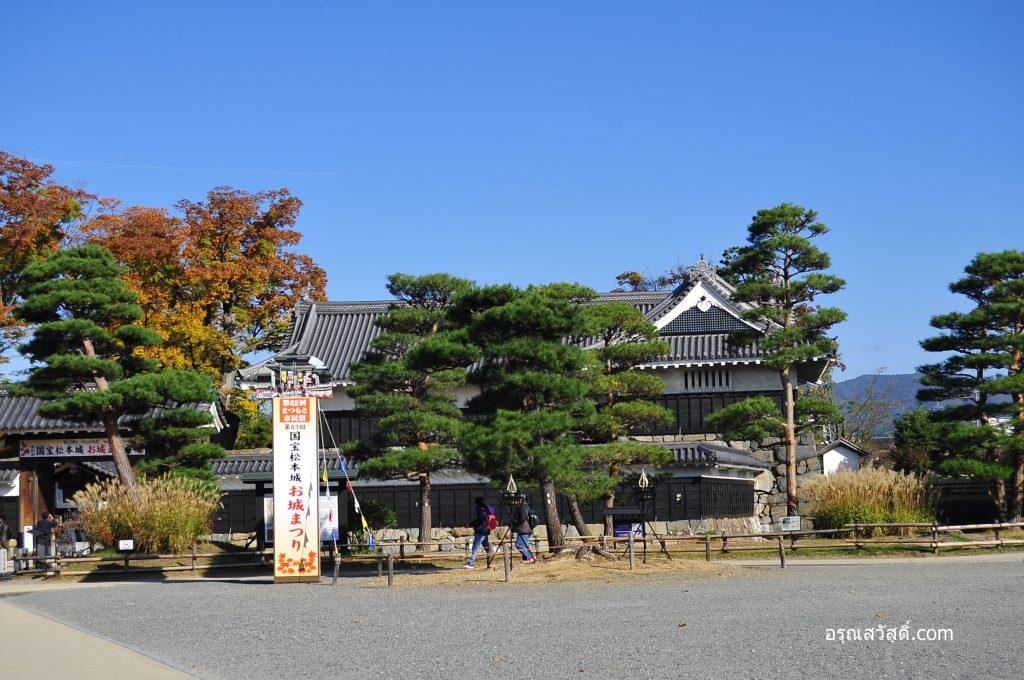 ทางเข้าชมในปราสาทมัตสึโมโตะ