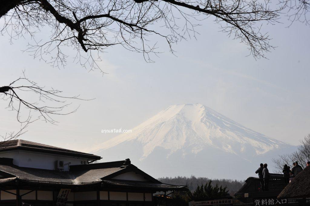 ภูเขาไฟฟูจิหมู่บ้านโอชิโนะฮัคไค Oshino Hakkai Village