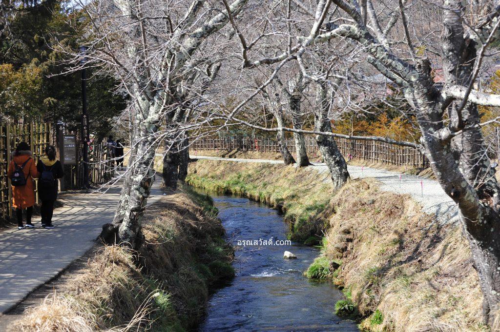 คลองหมู่บ้านโอชิโนะฮัคไค Oshino Hakkai Village